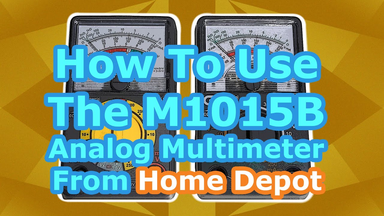 How To The M1015b Analog Multimeter Tutorial Youtube
