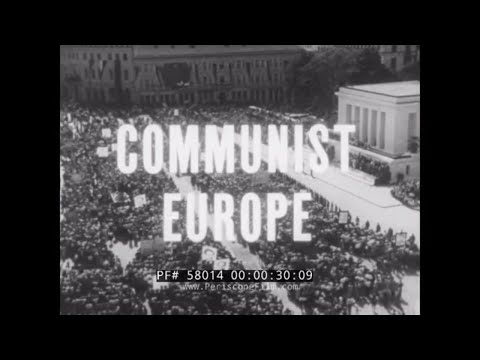 "1961 U.S. DEPT. OF DEFENSE COLD WAR DOCUMENTARY   "" COMMUNIST EUROPE ""  EASTERN BLOC NATIONS 58014"