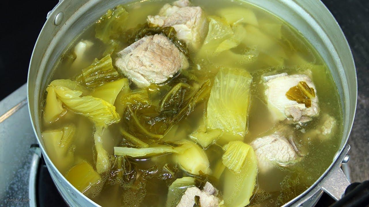 ต้มกระดูกหมูผักกาดดอง ทำง่ายพร้อมเคล็ดลับน้ำใสไม่ขุ่น pickled mustard soup