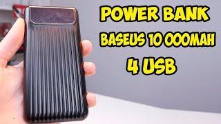 Power Bank Baseus на 10000 mah + 2 USB + Type-C + Micro USB + быстрая зарядка