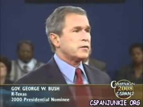 an analysis of the bush gore debate in 2000
