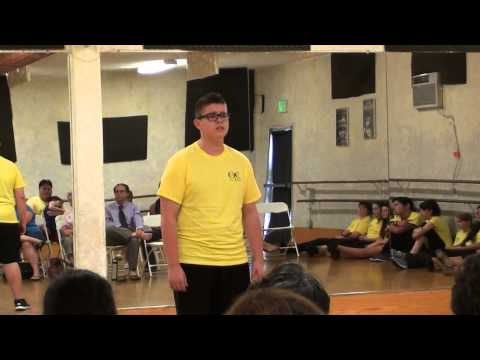 "Mario Arias singing ""Bring him home "" at OC Song and Dance camp 2014"