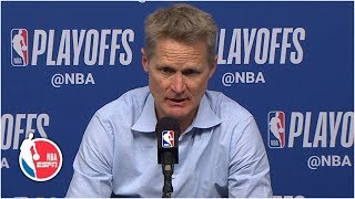 Steve Kerr: Steph Curry 'completely took over' Game 6 vs. Rockets | 2019 NBA Playoffs