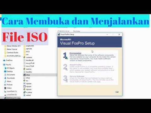 Cara Membuka Dan Menjalankan File ISO (Menginstall Ms Visual Foxpro 9)