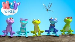 Pięć Małych Żabek  Piosenki Dla Dzieci