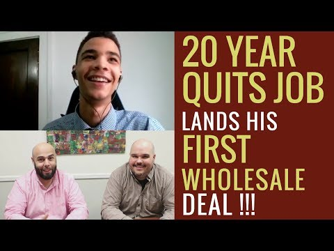 20 Year Old Quits Job and Makes First Wholesale Deal | Chat with Chatto