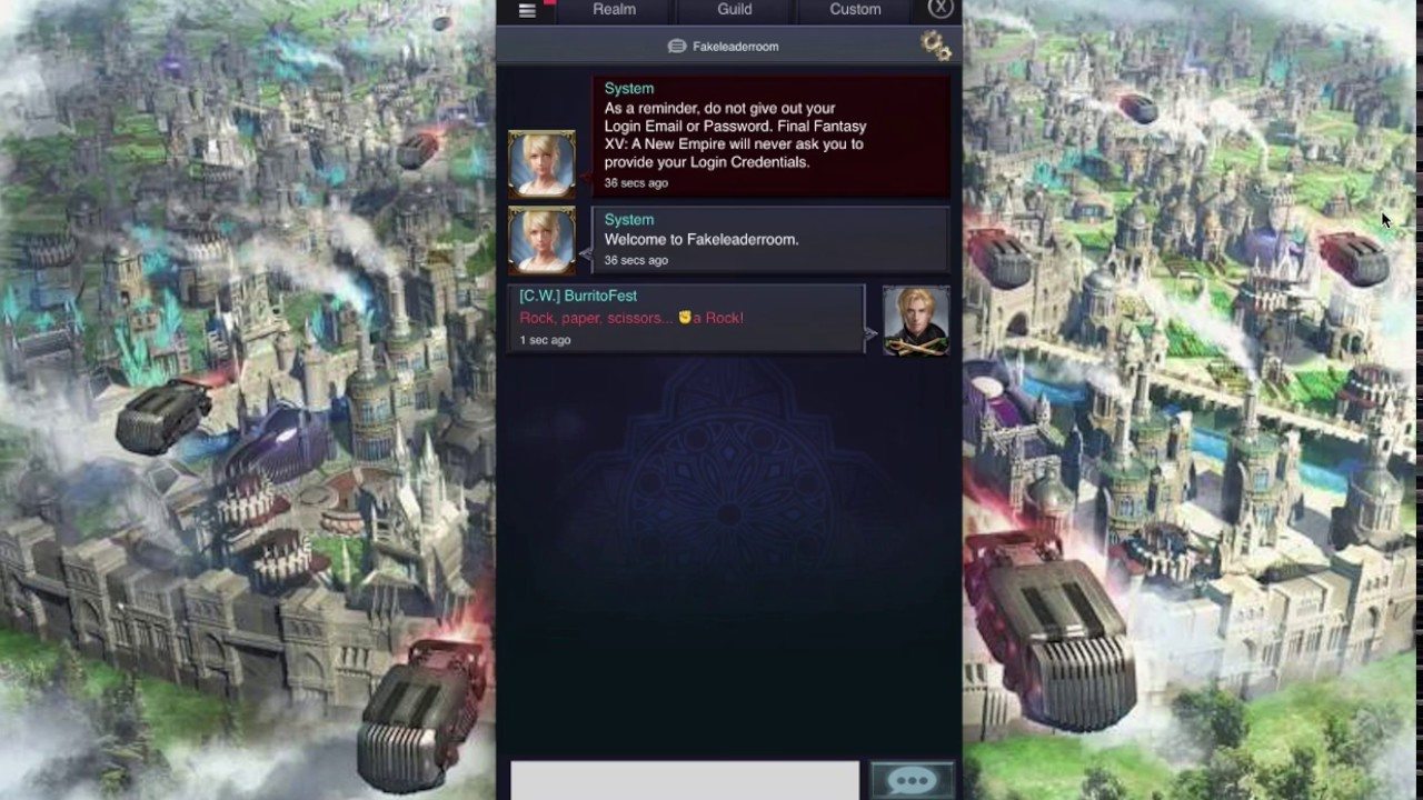 FFXV: A New Empire - Chat Tips and Features