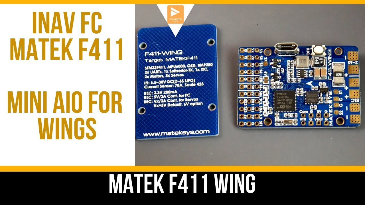 Best Mini INAV Wing Flight Controller! // Matek Systems F411-WING by Drone  Mesh