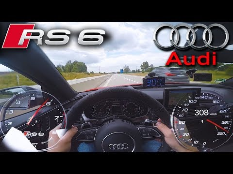 Crazy RS6 Performance on German Autobahn ✔