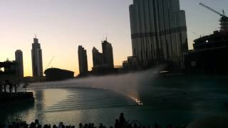Burj Khalifa water fountain Arabic song