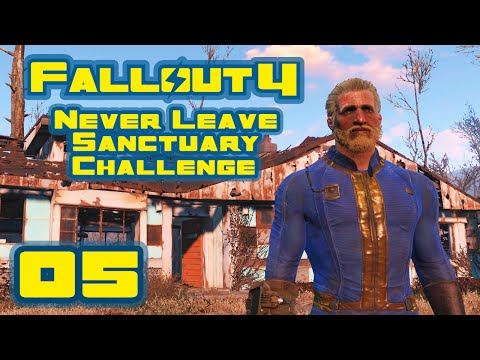 Let's Play Fallout 4: Never Leave Sanctuary Challenge - Part 5 - Cage Fighting