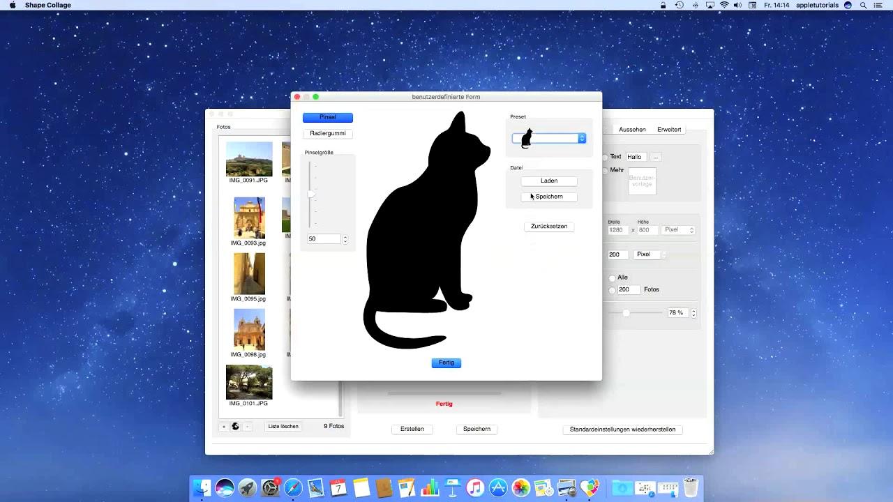 Wie Man Foto Collagen Auf Dem Mac Erstellen Kann Youtube