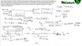 BALANCE MATERIA (3/3). CORRIENTE AIRE Y EVAPORACION HEXANO