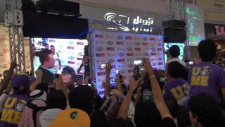 WWE Mark Henry and The Miz autograph signing (Doha-Qatar)