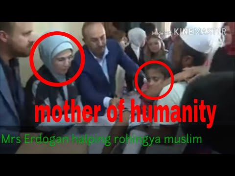 Turkish first lady Emine Erdogan helping Rohingya muslim in Bangladesh