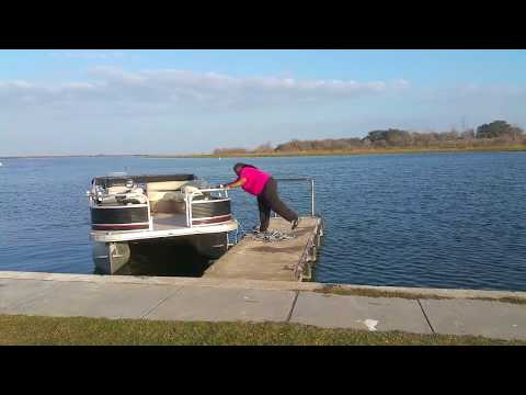My attempt at launching the pontoon