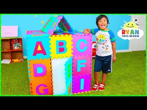ABC Song Playhouse Learn English Alphabet for Children with Ryan  Kids Nursery Rhymes