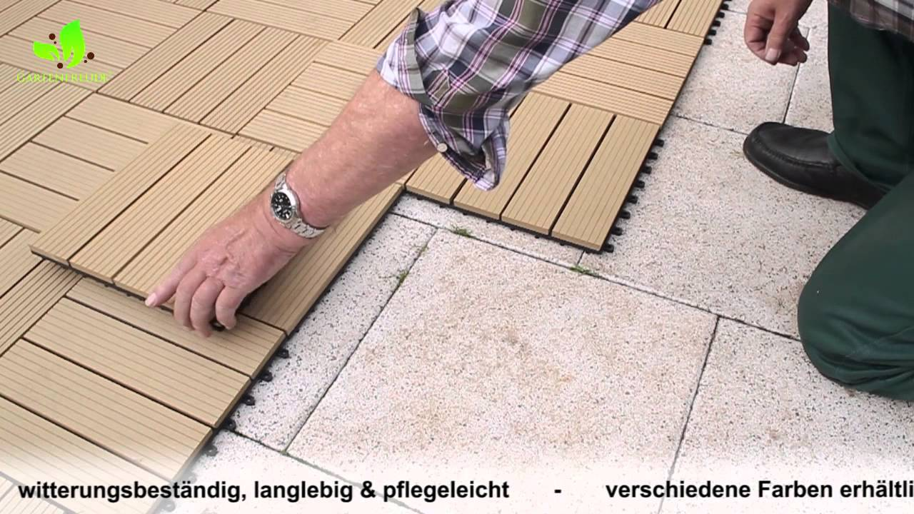 gartenfreude wpc fliesen - youtube