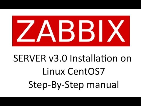 ZABBIX Server v3.0 installation on CentOS7 Step-By-Step manual