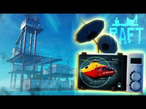 *MAJOR SPOILERS* - Raft - THE ENDING! - Hidden Radio Tower, Radio Receiver & Antenna - Raft Gameplay