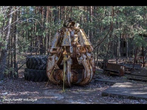 """Припять.""""Ковш смерти"""" и кладбище роботов / Pripyat , Chernobyl"""