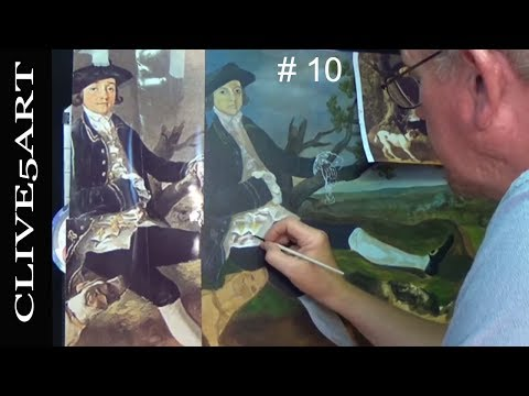 Painting Fabric Thomas Gainsborough in acrylic Diary # 10 ac