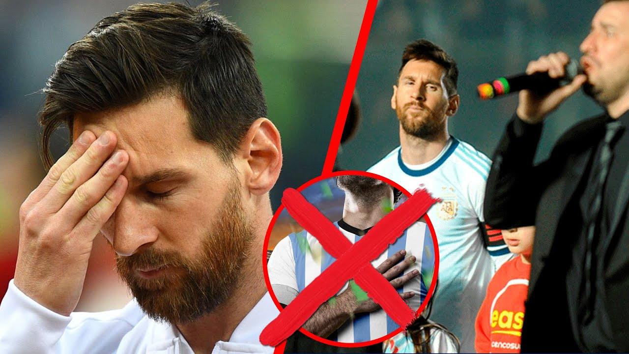 No canta, pero... qu hace Messi durante el himno de Argentina?