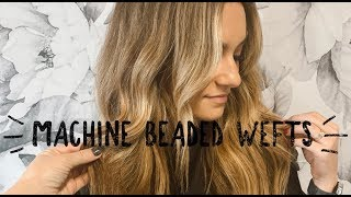MACHINE BEADED WEFTS