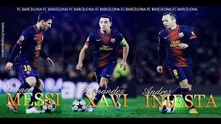 Messi, Xavi & Iniesta - Magical Ball Controls (HD)