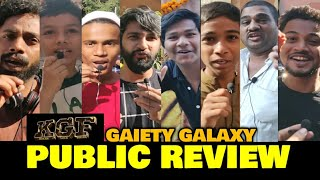 KGF Movie PUBLIC REVIEW At Gaiety Galaxy | Yash, Mouni Roy, Srinidhi Shetty | Chapter 1