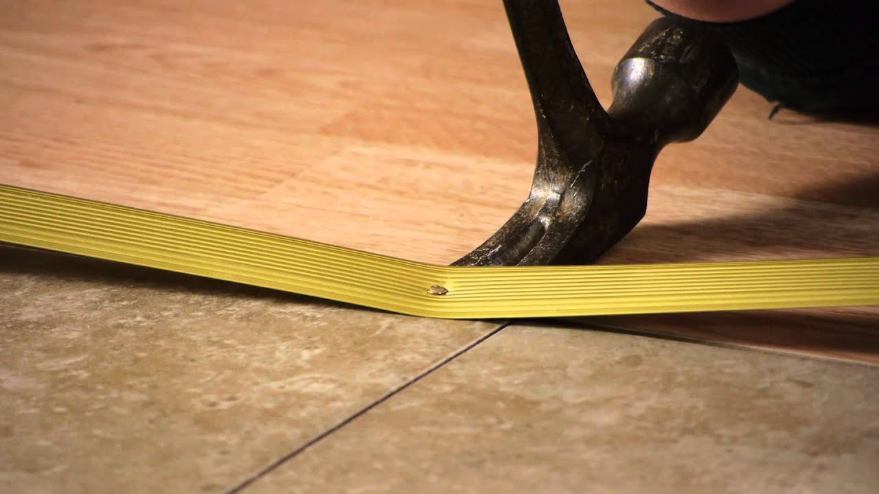 Replacing Laminate Flooring Part - 30: How To Repair Or Replace Thresholds For Laminate Flooring : Flooring Tips -  YouTube
