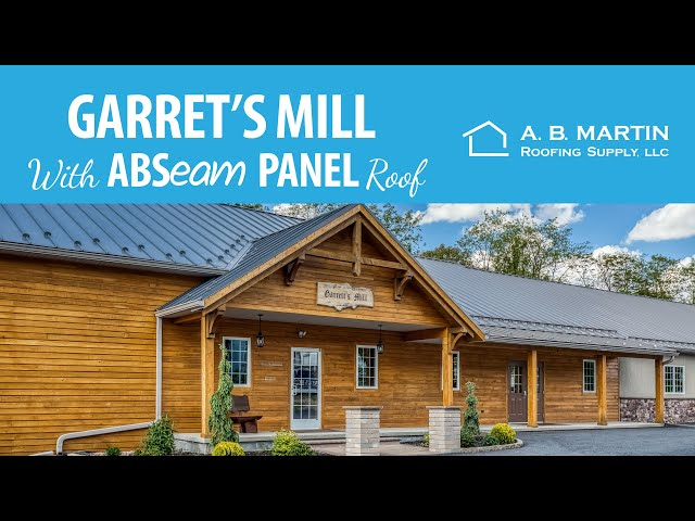 The Mill With Two Colors Of Metal Roofing A B Martin Youtube