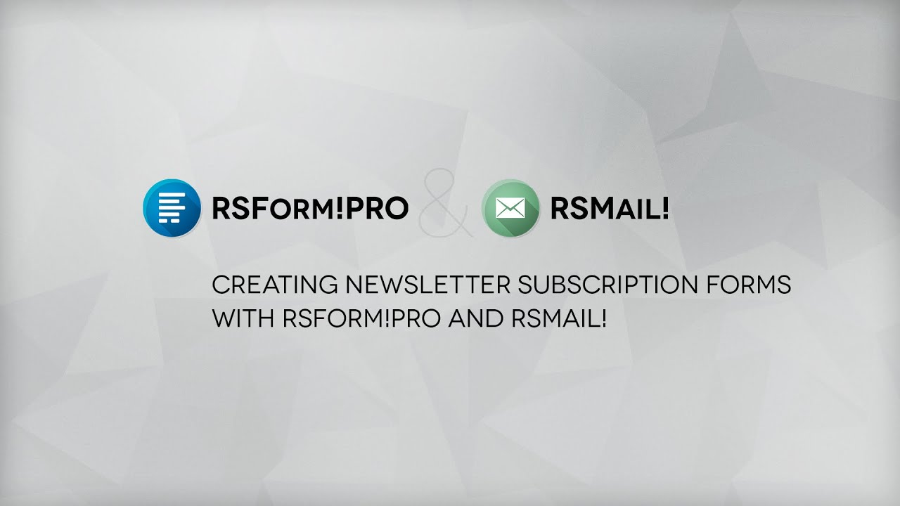 How to create a newsletter subscription form in Joomla! - YouTube