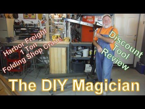 Harbor Freight 1 Ton Folding Shop Crane Discount Tool Review The DIY Magician