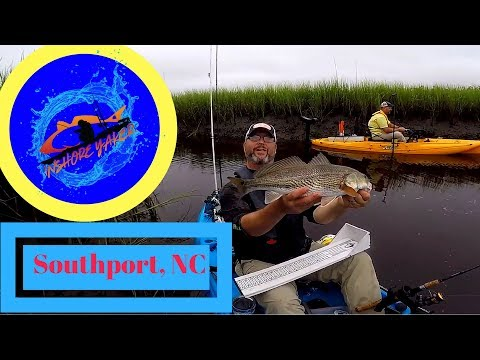 KAYAK FISHING: Southport North Carolina Redfish