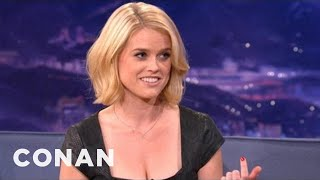 Alice Eve Explains Differences Between American & UK Dating - CONAN on TBS thumbnail
