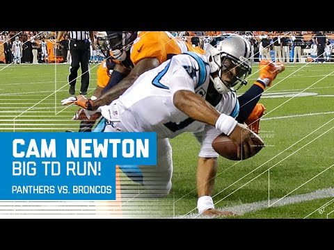 Cam Newton Shows Off New TD Dance & Breaks QB Rushing TD Record | Panthers vs. Broncos | NFL
