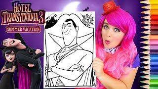 Coloring Hotel Transylvania 3 Dracula Coloring Page Prismacolor Pencils | KiMMi THE CLOWN