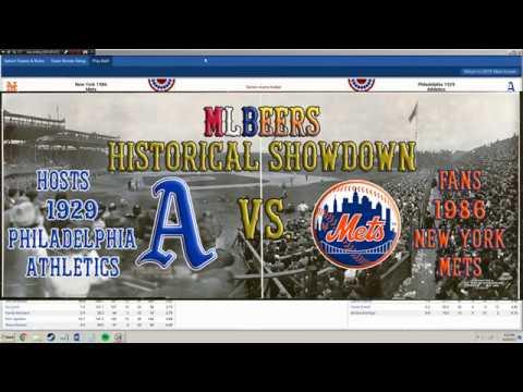 MLBeers Historical Showdown Episode 4, 1929 Philadelphia Athletics v 1986 New York Mets