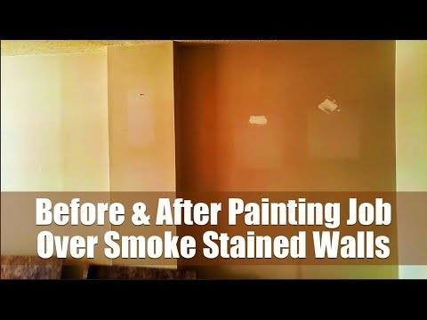 Full Paint Job on Nicotine Stained Walls in House