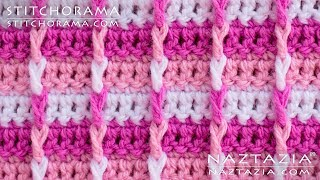 Crochet Post Stitch 001 - Front Post Double Crochet FPDC - Stitchorama by Naztazia