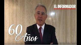 Felicitación del expresidente y senador de Colombia Ávaro Uribe Vélez
