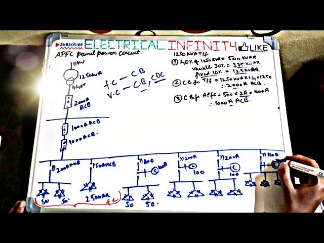 APFC Panel Power Circuit Explanation in Detail | APFC panel wiring diagram|  Capacitor Calculations. - YouTubeYouTube
