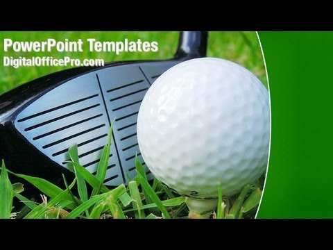 Golf Ball Powerpoint Template Backgrounds Digitalofficepro 00158w