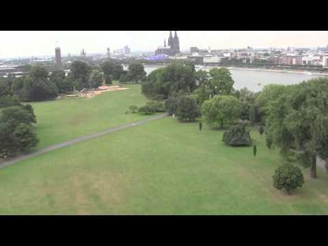 Crossing the River Rhine by Cable Car / Seilbahn in Cologne / Köln, Germany - 26th August, 2013