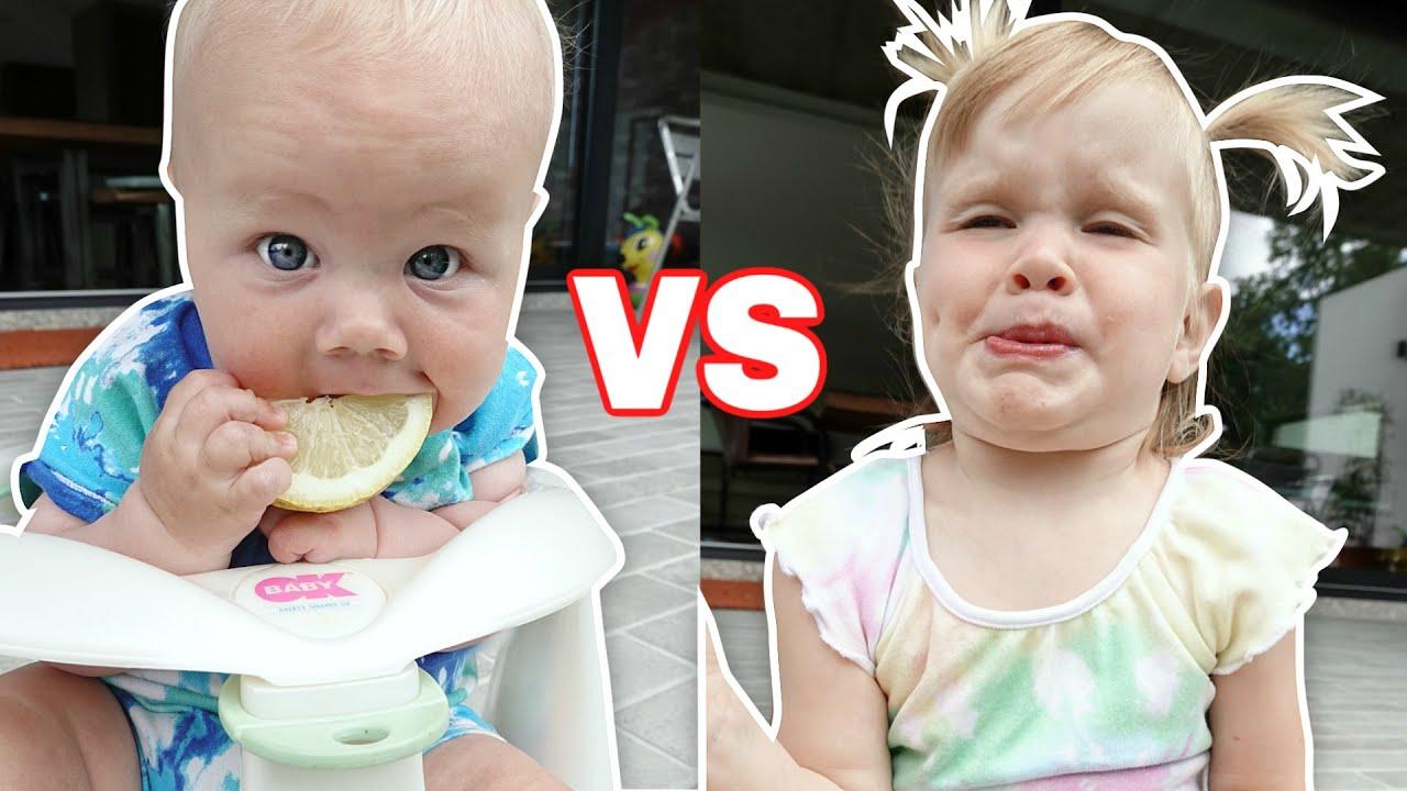 BABY vs LEMON!!! Who has the CUTEST reaction?