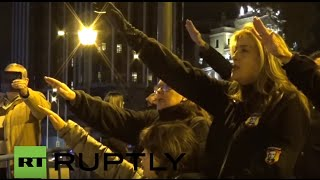 Spain: Nazi-saluting nationalists commemorate death of far-right leader