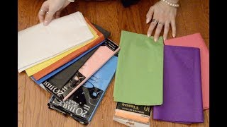 ASMR Gift Wrapping – No talking – 1 Hour – Tissue paper / Crinkles – #1