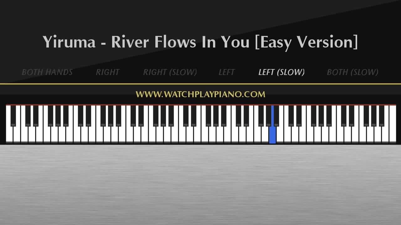 Yiruma river flows in you easy piano tutorial youtube yiruma river flows in you easy piano tutorial hexwebz Images