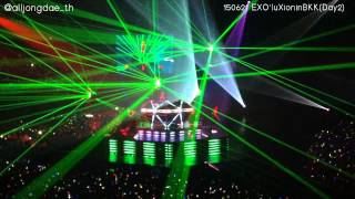 fancam 150621 machine drop that let out the beast run exo luxion in bangkok day2